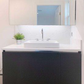 Bathroom Cabinet Install