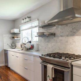 Kitchen appliance installs and Flooring