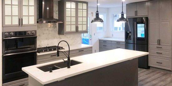 Custom Dark Kitchen Cabinet